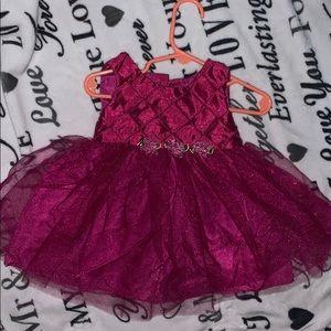 Beautiful pink tutu flower band dress
